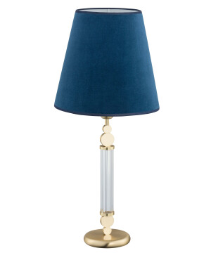 traditional table lamps for living room Tamara gold with blue lamp shade