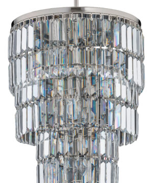 Swarovski crystal pendant lamp uk with nickel finish ELLINI