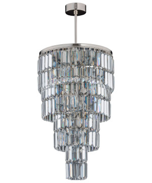 Crystal droplet chandelier ELLINI in nickel with Swarovski Crystals