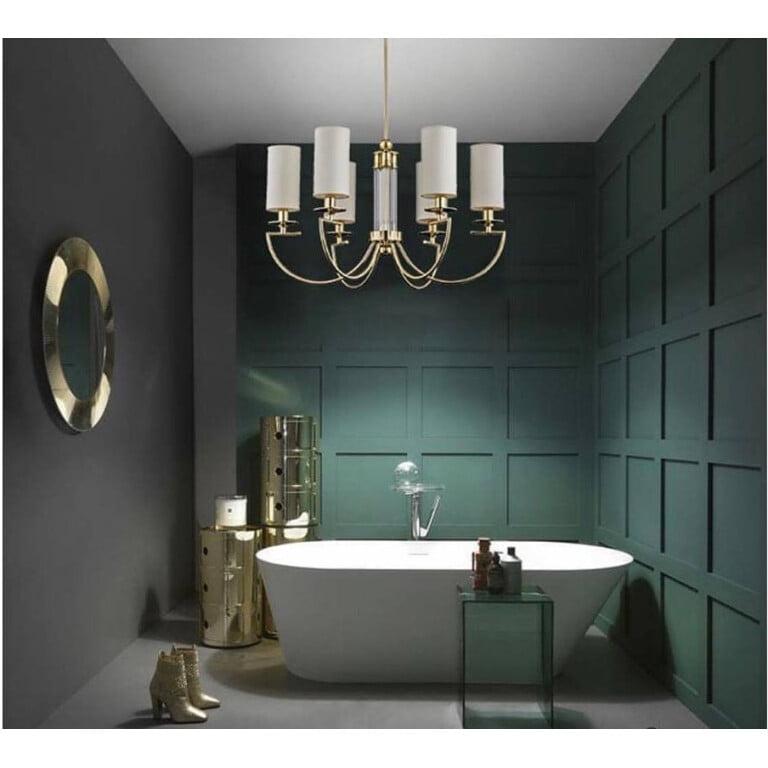 bathroom ideas with gold chandelier LEA 6 light