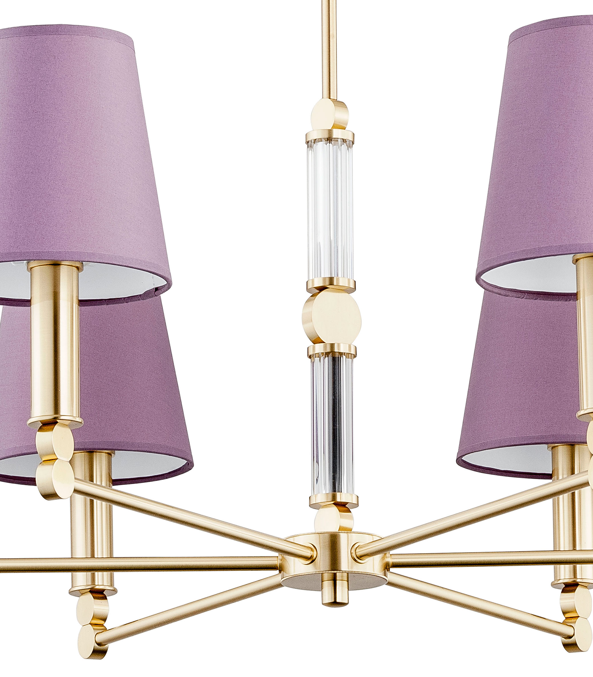 Transitional Gold Chandelier Tamara 6 Light Pink Shade Luxury Chandelier