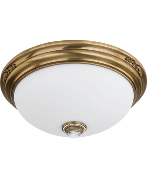 Bespoke lighting BELLAGIO 3 light ceiling flush light brushed brass