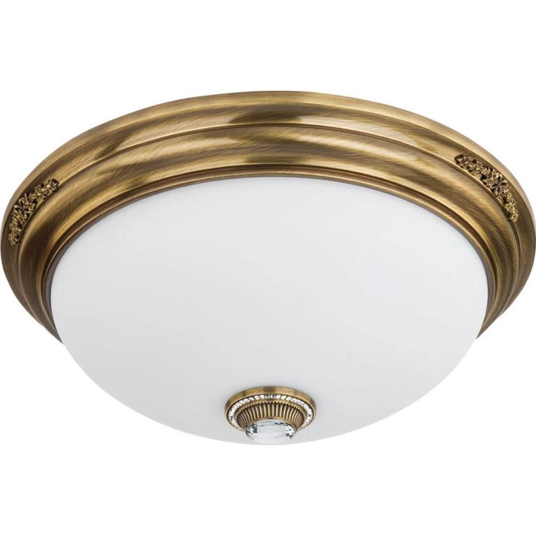 Bespoke lighting BELLAGIO 3 light ceiling flush light brushed brass