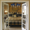 bedroom idea with gold chandelier ceiling light DALILA