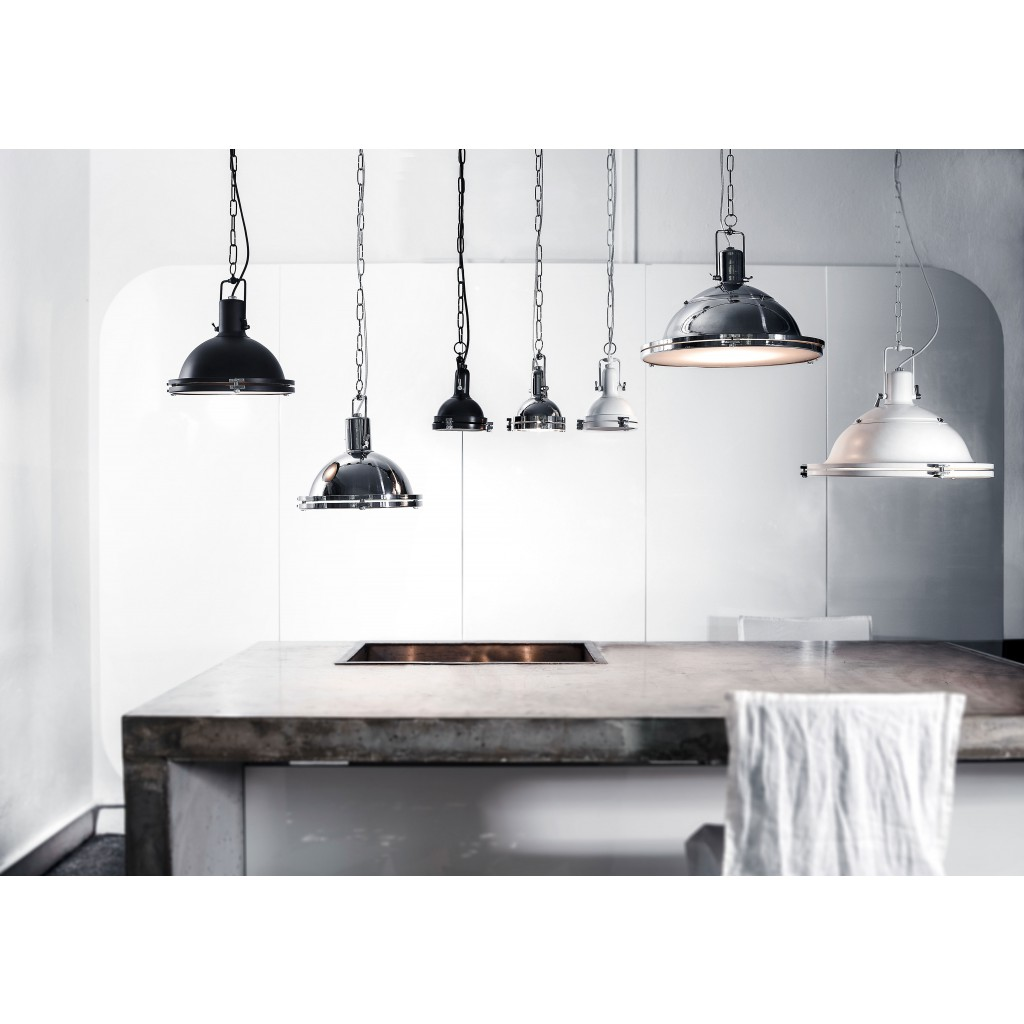 inspiration of lamps Marine style of single ceiling pendant light LILIUS dark brown kitchen island lighting