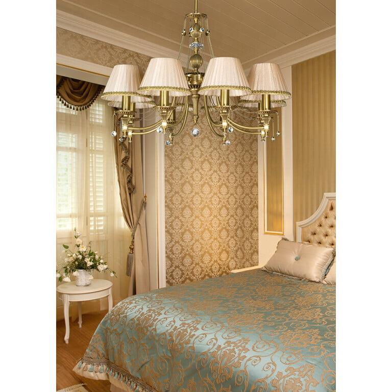 bedroom chandelier 8 light NICO inspiration