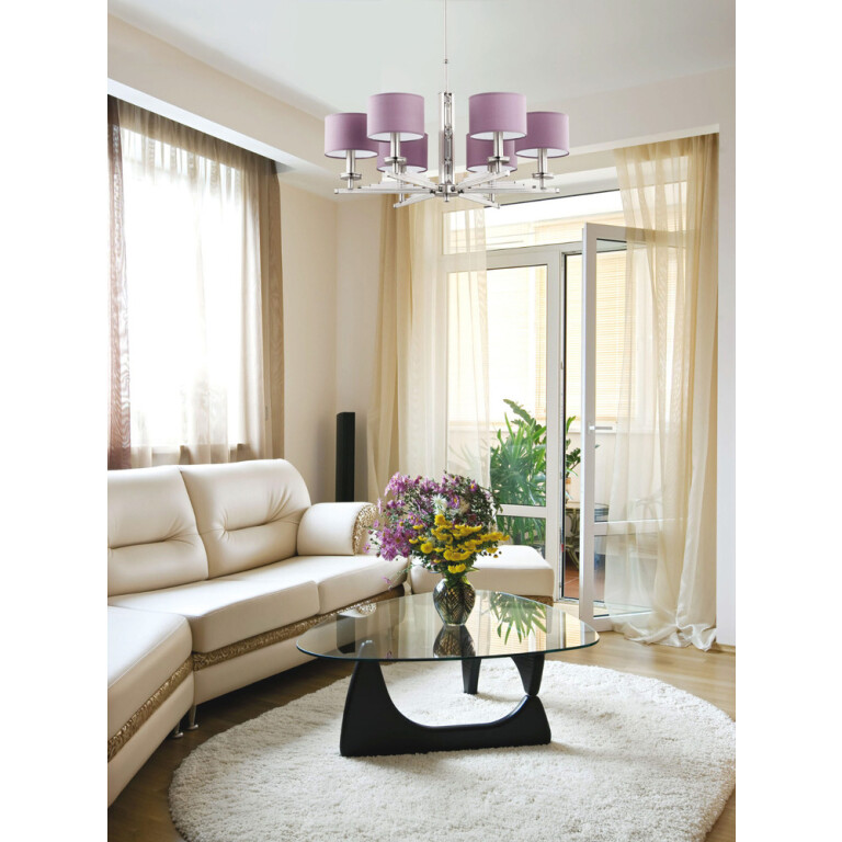 living room ideas decor with 6 light chandelier NATALI