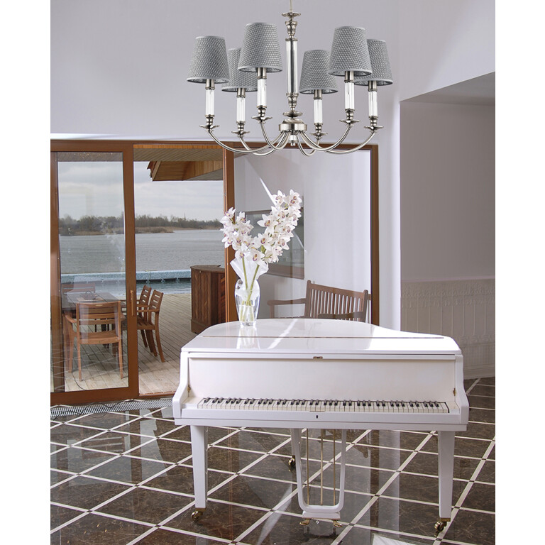 summer house interior ideas with chandelier 6 light NAPOLI