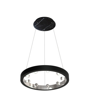Starburst pendant 9 lights CASSIOPEIA in black marble