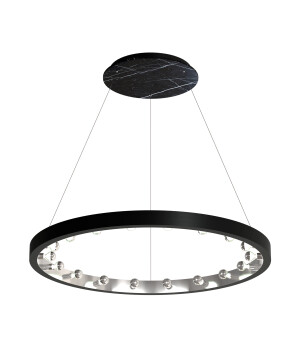 Starburst marble pendant 18 lights CASSIOPEIA in black