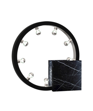 Luxury marble table lamp CASSIOPEIA in black with 8 lights