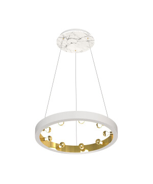 Starburst pendant 9 lights CASSIOPEIA in white marble