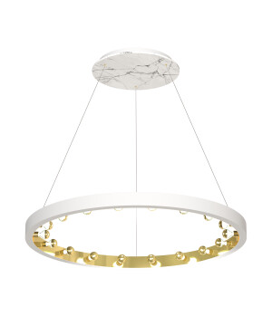 Starburst marble pendant 18 lights CASSIOPEIA in white