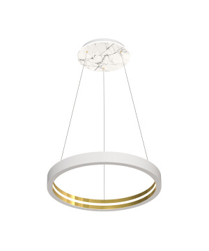 Starburst pendant lights CASSIOPEIA LED in white marble