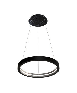 Starburst pendant lights CASSIOPEIA LED in black marble