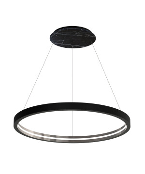 Large Starburst marble pendant lights CASSIOPEIA LED in black