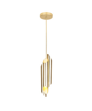 Gold designer pendant 3 lights LIBRA