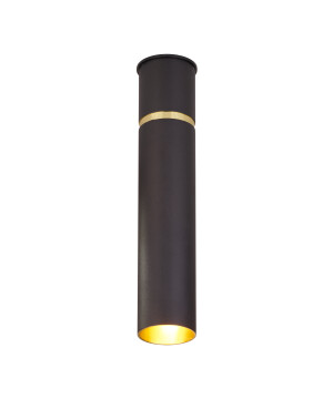 Luxury ceiling light LYNX tube with gold rim