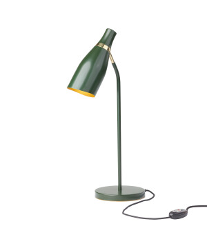Designer desk lamp MADAME CLICQOUT green with gold in contemporary style
