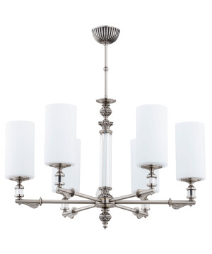 classic chandeliers MERANO 6 light brass with glass shades