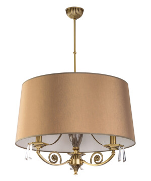 modern single pendant 3 lights MONZA in brushed brass