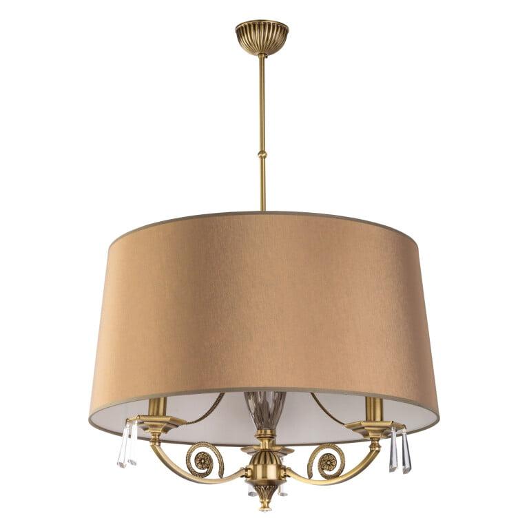 modern single pendant 3 lights MONZA in brushed brass