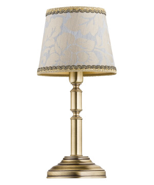 Small table lamp ANTHONY brass base with pattern shade