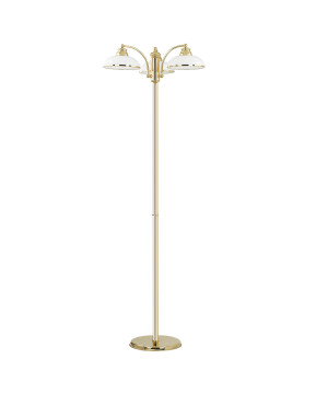 3 light floor lamp HELEN in gold with glass shades