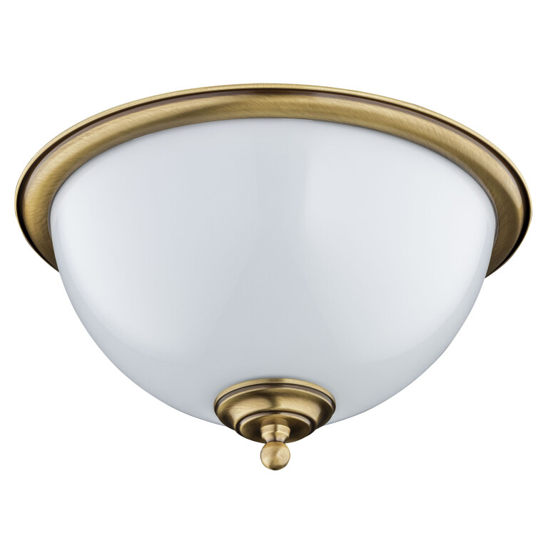 Semi flush ceiling light HELEN in brushed brass