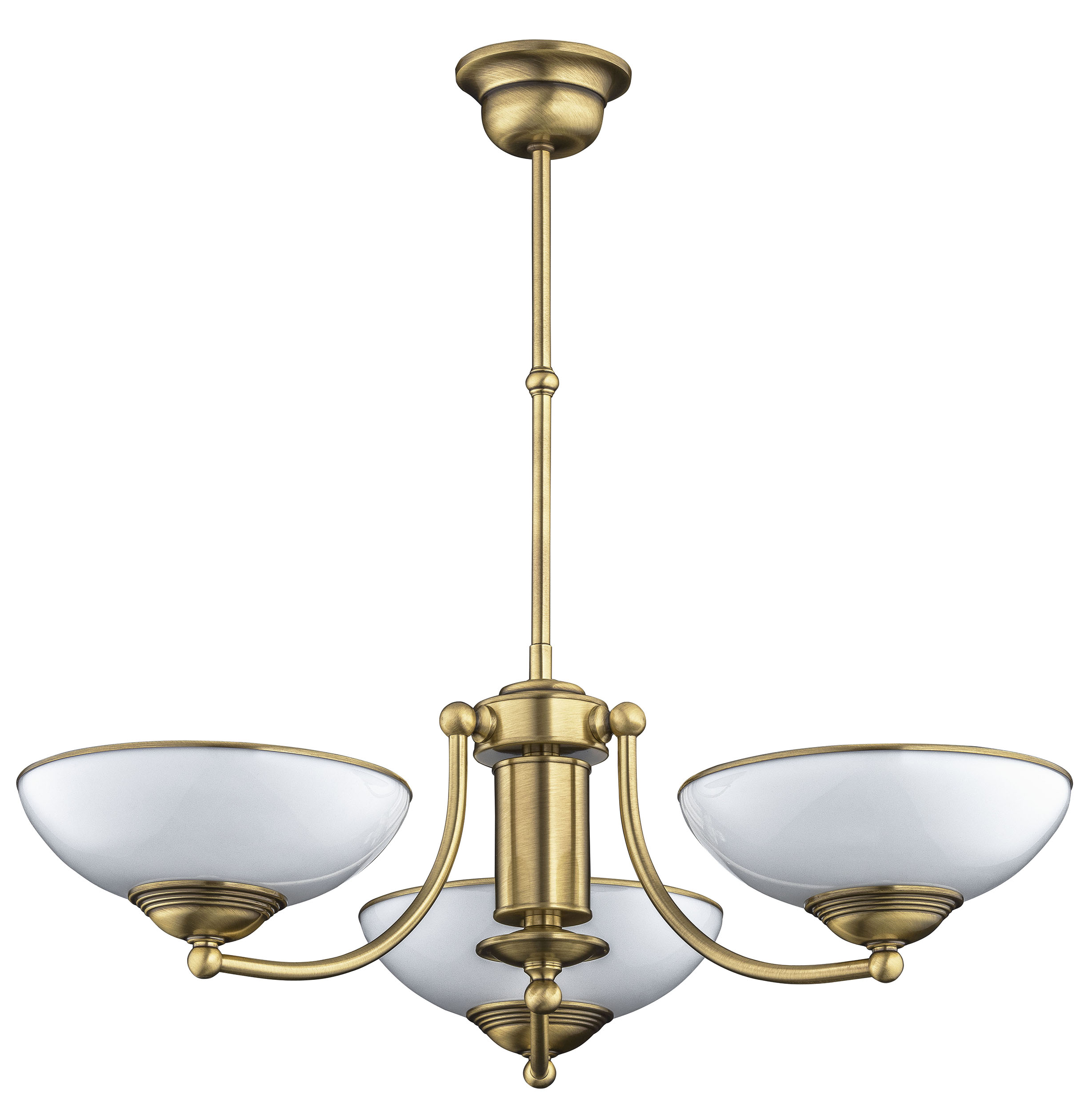 Lighting room BOLT 3 light ceiling chandelier lighting in gold, grey shades
