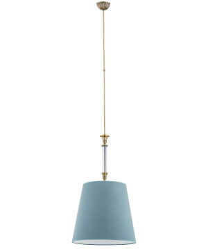 single pendant light NAPOLI in brushed brass I sea green shade
