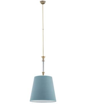 single pendant light NAPOLI in brushed brass I sea green shade