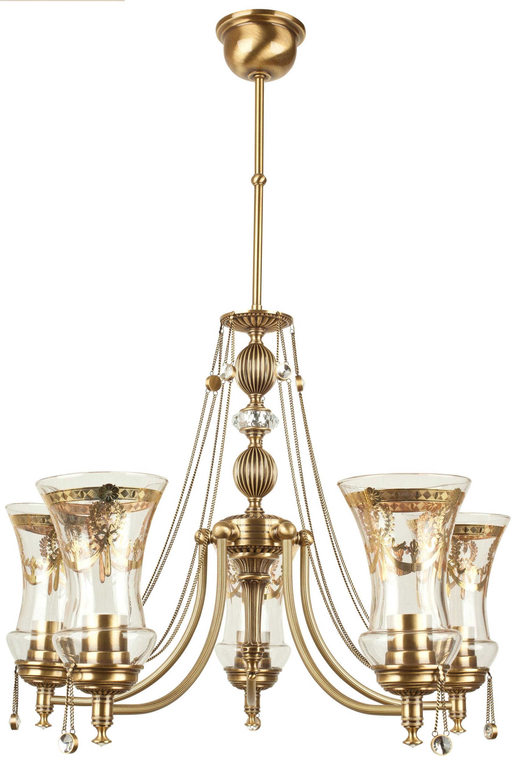 Antique Brass Chandelier With Crystals Nico Luxury Chandelier