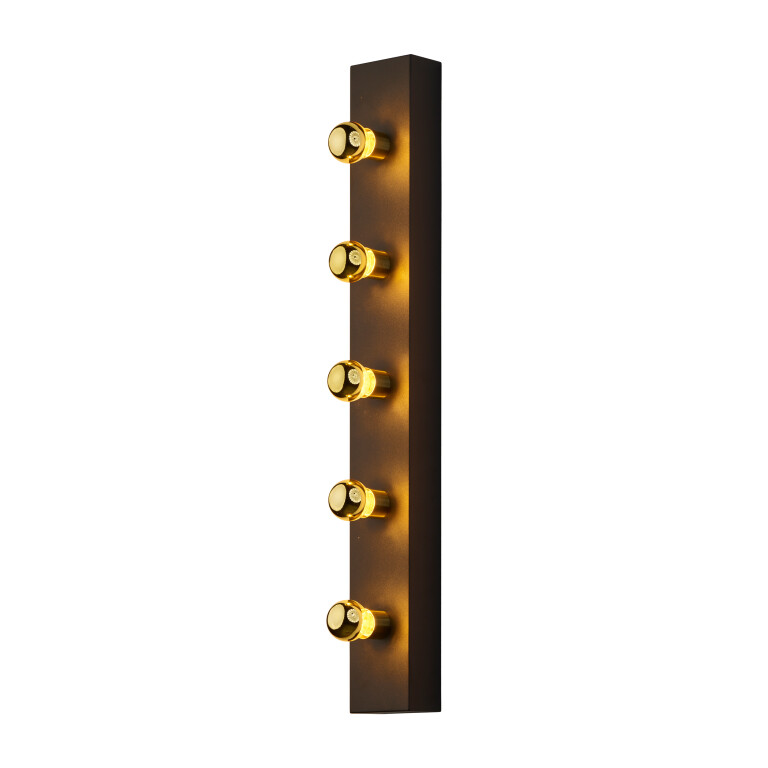 Designer Art Déco Wall Lamp Phoenix with 5 source lights Gold