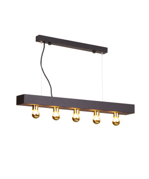 Designer Art Déco Lamp Phoenix Gold pendant ceiling bar 5 lights