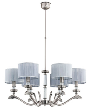 Dining room chandelier SPARONE 6 arms Swarovski crystals