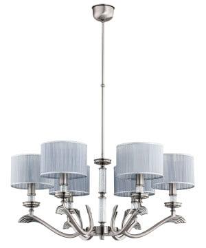 Dining room chandelier SPARONE 6 arms Swarovski crystals