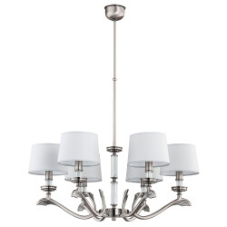 Luxury chandeliers SPARONE 6 lights dining room in nickel