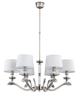 Luxury chandeliers SPARONE 6 lights dining room in nickel