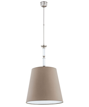 single light crystal pendant chandelier SPARONE with fabric shade