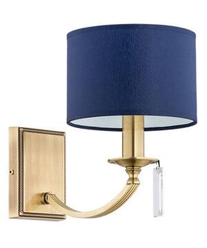 modern chandelier wall lights ZEVIO handmade blue shades