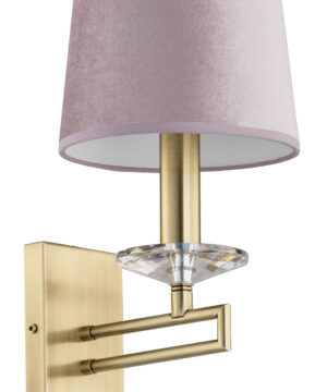 Luxury wall lights ZOLA with pink fabric shade