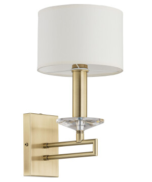 chandelier wall lights ZOLA in gold with fabric shade