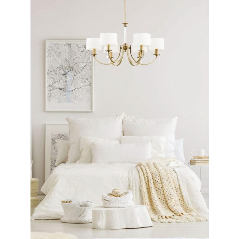 bedroom chandelier lighting ZEVIO 6 lights