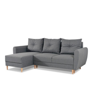 Fabric luxury corner sofa with pillows LHF