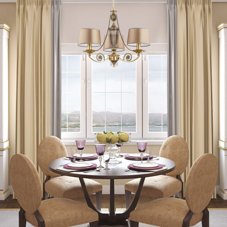 dining room ideas with luxury chandeliers MONZA 3 light