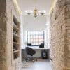 home office design idea with Helen 3 light chandelier