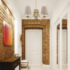 Hallway idea with brass chandelier ANTHONY