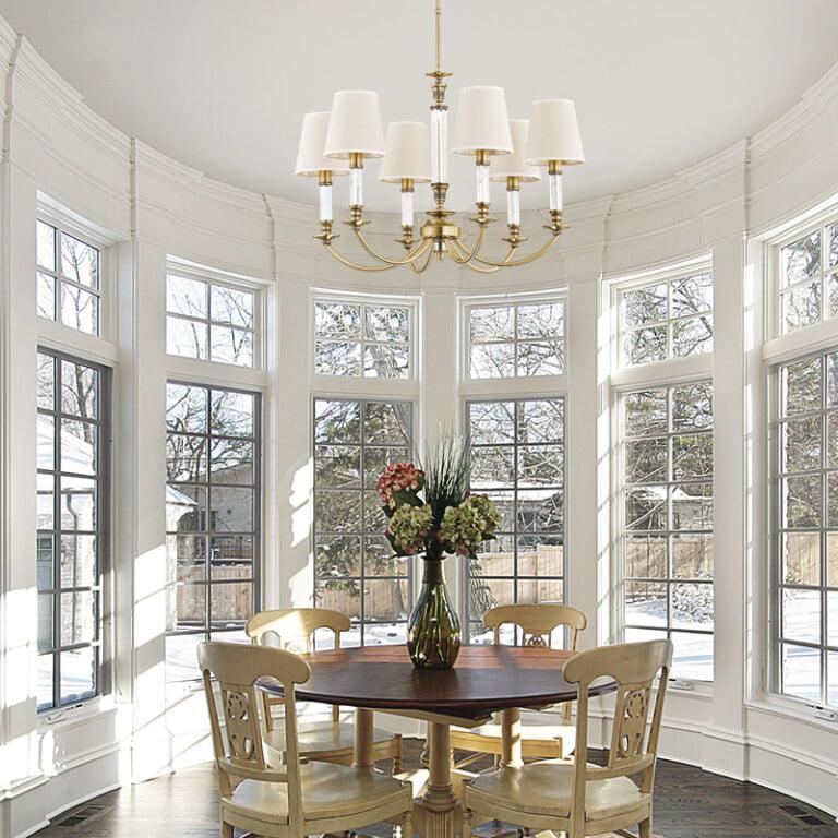 dining room chandelier NAPOLI 6 light