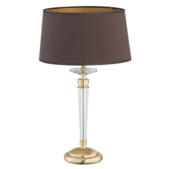 luxury table lamp zola with fabric shade & finish gold
